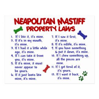 NEAPOLITAN MASTIFF Property Laws 2 Postcard
