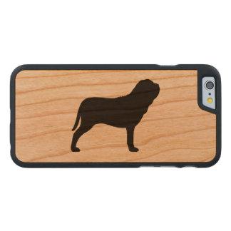 Neapolitan Mastiff Silhouette Carved® Cherry iPhone 6 Slim Case
