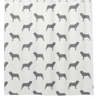 Neapolitan Mastiff Silhouettes Pattern Shower Curtain