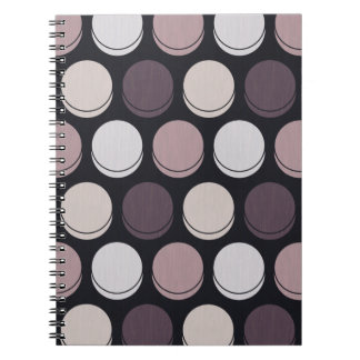 Neapolitan Midnight Trendy Polka Dot Pattern Spiral Note Books