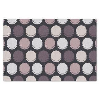"Neapolitan Midnight Trendy Polka Dot Pattern 10"" X 15"" Tissue Paper"