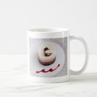 Neapolitan mousse dessert 3 basic white mug