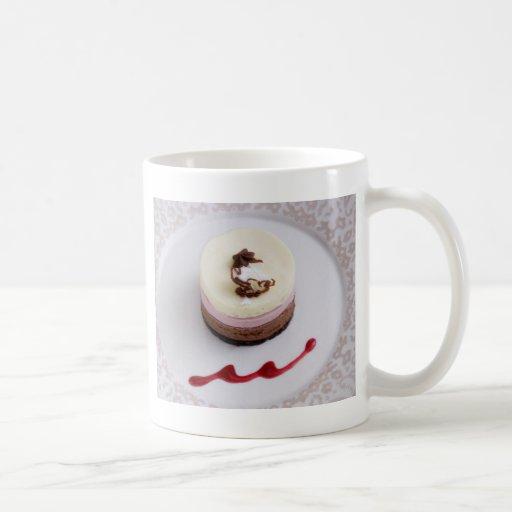 Neapolitan mousse dessert 3 coffee mug