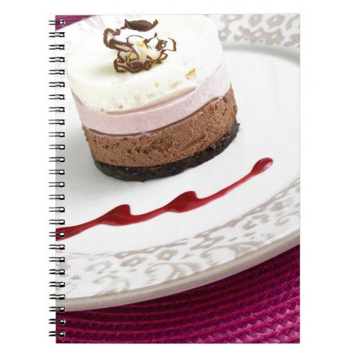 Neapolitan mousse dessert spiral notebook