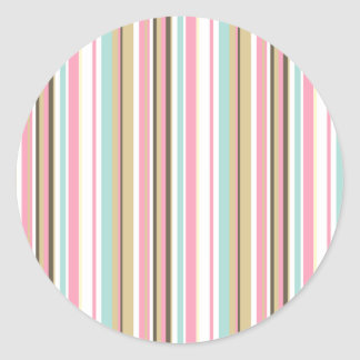 Neapolitan Striped Classic Round Sticker
