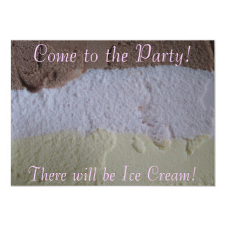 "Neapolitan ""There Will Be Ice Cream"" Party Invite"