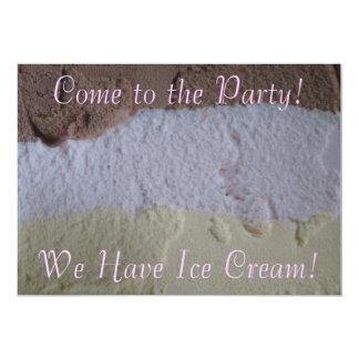"Neapolitan ""We Have Ice Cream"" Party Invite"