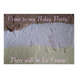 "Neapolitan ""Will Be Ice Cream"" Bday Party Invite"