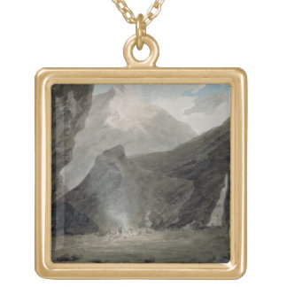 Near Chiavenna in the Grisons, c.1779 (w/c, black Gold Plated Necklace