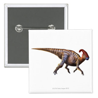 Near-Crested Lizard 15 Cm Square Badge