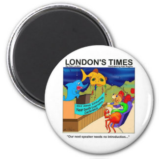 Near Death Experience Funny Fishing Gifts & Tees 6 Cm Round Magnet