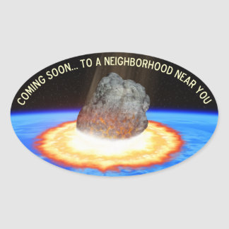 Near-Earth Asteroid Oval Sticker