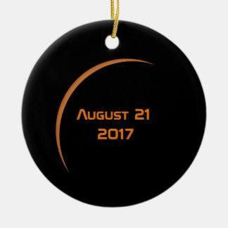 Near Maximum August 21, 2017 Partial Solar Eclipse Christmas Ornament