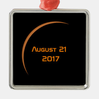 Near Maximum August 21, 2017 Partial Solar Eclipse Christmas Ornament