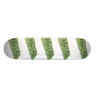 Neat as Ne Neon and At Astatine Custom Skateboard