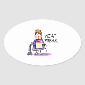 Neat Freak Oval Stickers