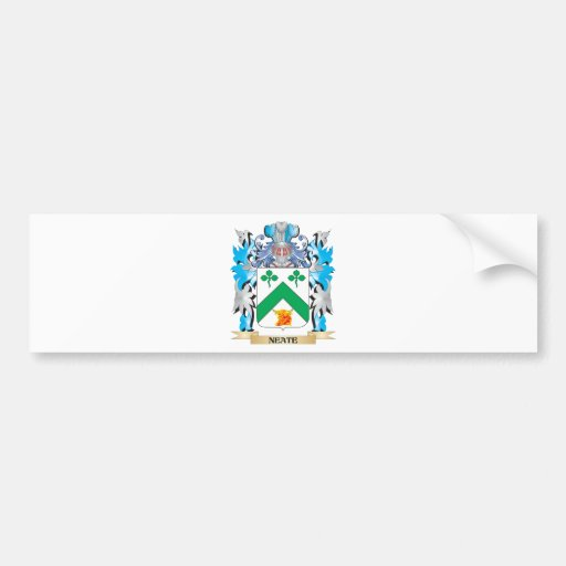 Neate Coat of Arms - Family Crest Bumper Sticker