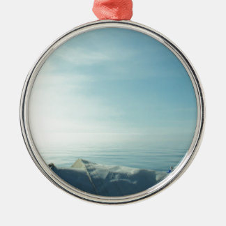 Neatly flaked sail christmas ornament