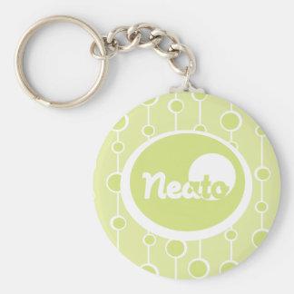 Neato! Basic Round Button Key Ring