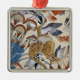 Nebamun hunting in the marshes with his wife christmas ornament