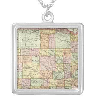 Nebraska 4 silver plated necklace
