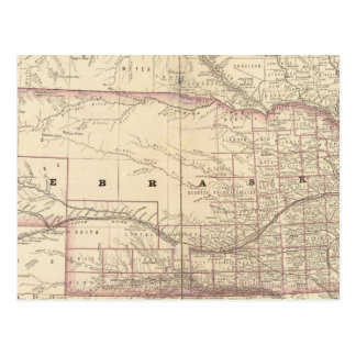 Nebraska 5 postcard