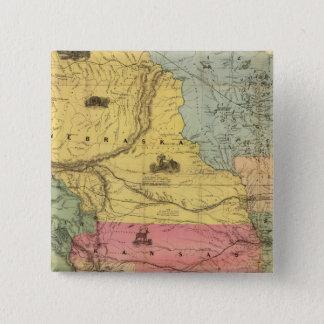 Nebraska and Kansas 2 15 Cm Square Badge