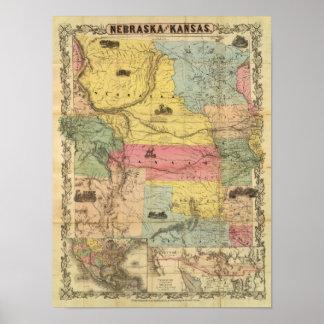 Nebraska and Kansas 2 Poster