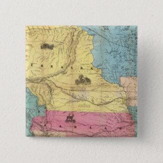 Nebraska and Kansas 3 15 Cm Square Badge