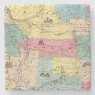 Nebraska and Kansas 3 Stone Coaster