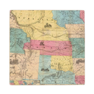 Nebraska and Kansas 3 Wood Coaster