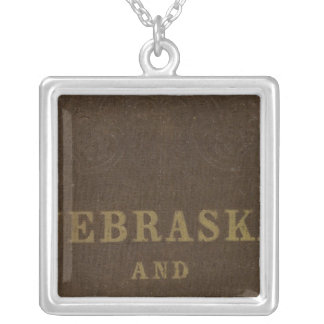Nebraska and Kansas Silver Plated Necklace