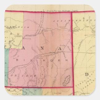 Nebraska and The Dakotas Square Sticker