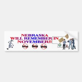 Nebraska - Anti ObamaCare, New Taxes & Spending Bumper Sticker