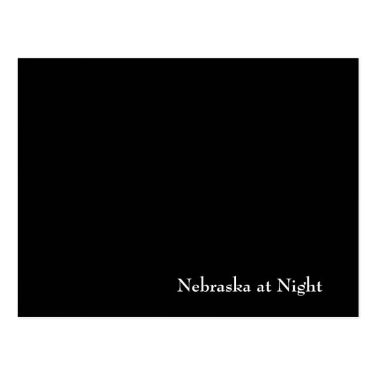 Nebraska at Night Postcard
