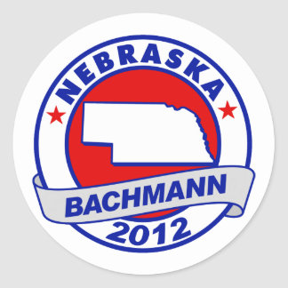 Nebraska Bachmann Round Stickers