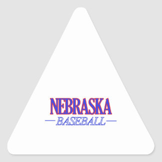 Nebraska baseball DESIGNS Triangle Sticker