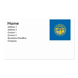NEBRASKA Double-Sided STANDARD BUSINESS CARDS (Pack OF 100)