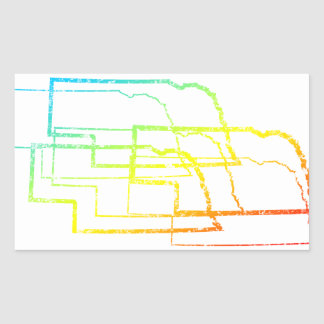 nebraska chill blur rectangular sticker