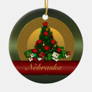 Nebraska Christmas Tree Ornament