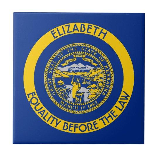 Nebraska Cornhusker State Personalised Flag Tile