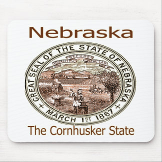 Nebraska Cornhusker State Seal Mousepad