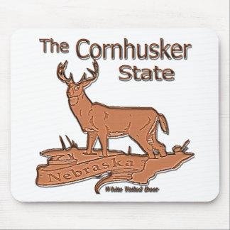 Nebraska Cornhusker White Tailed Deer Mouse Pads