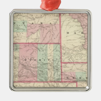 Nebraska, Dakota, Idaho, Montana, and Wyoming Christmas Ornament