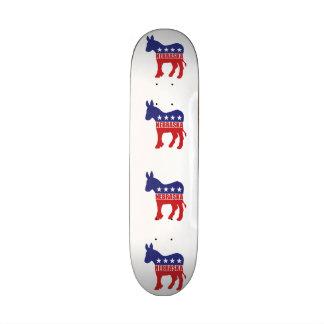 Nebraska Democrat Donkey Custom Skate Board