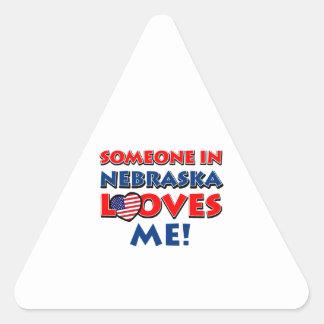 Nebraska designs triangle sticker