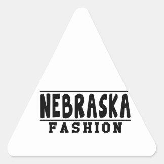 Nebraska Fashion Designs Triangle Sticker