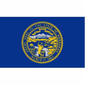 Nebraska Flag Keychain Cut Out