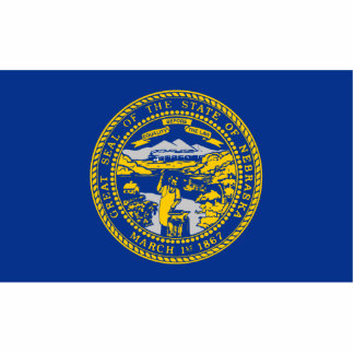 Nebraska Flag Magnet Cut Out