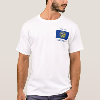 Nebraska Flag Map City T-Shirt